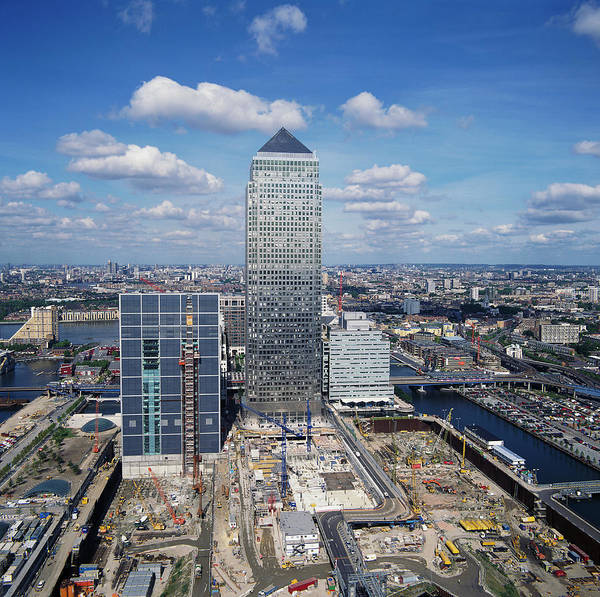 Financial Centre Photograph - Canary Wharf by Skyscan/science Photo Library