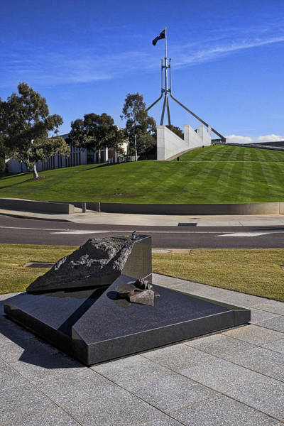 Photograph - Canberra - Memorial And Parliament House by Steven Ralser