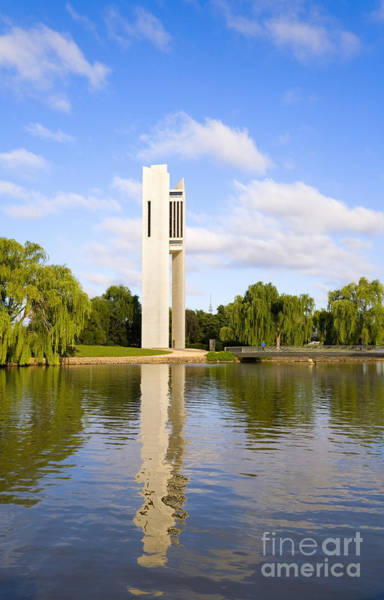 Bell Tower Photograph - Canberra The Carillon by Colin and Linda McKie