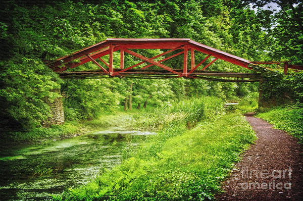 Photograph - Canal Bridge by Debra Fedchin