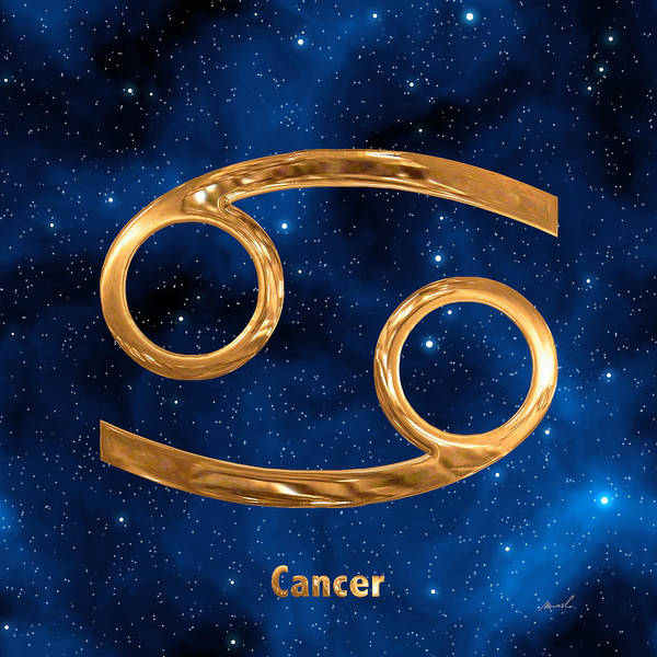 Signs Of The Zodiac Painting - Cancer by The Art of Marsha Charlebois