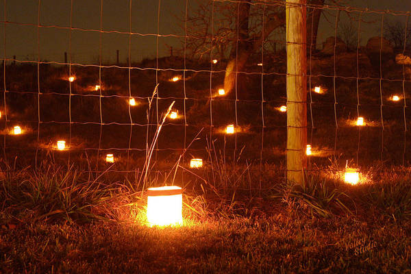 Wall Art - Photograph - Candle At Wire Fence 12 by Judi Quelland