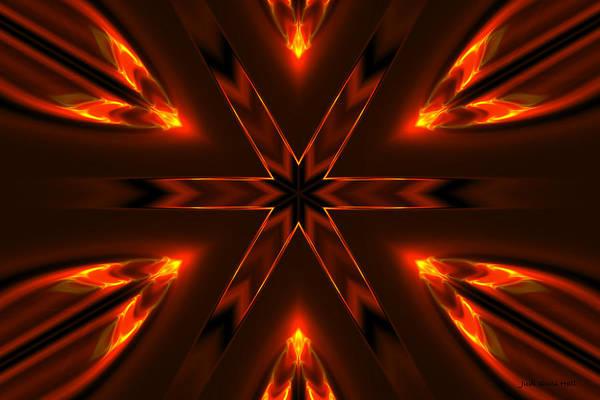 Digital Art - Candle Flame Kaleidoscope by Judi Suni Hall