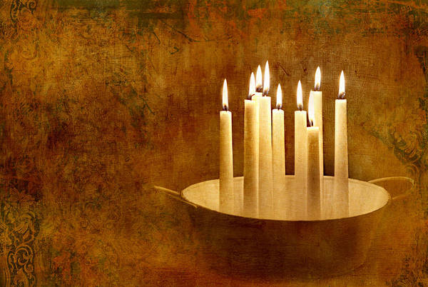 Love Letter Mixed Media - Candle Light by Heike Hultsch
