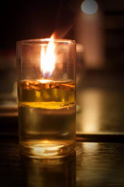 Photograph - Candle Light by Miguel Winterpacht
