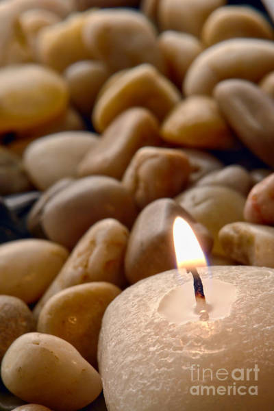 Photograph - Candle On The Rocks by Olivier Le Queinec