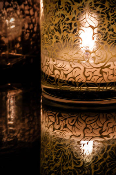 Photograph - Candle Reflections by James Woody