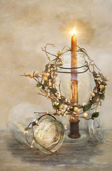 Photograph - Candlelight by Robin-Lee Vieira
