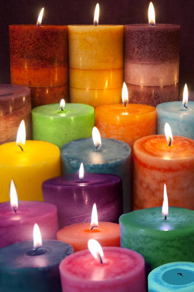 Wall Art - Photograph - Candles by MGL Meiklejohn Graphics Licensing