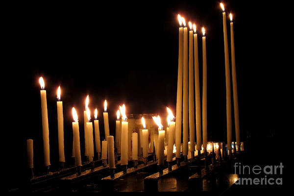Photograph - Candles In Church by Olivier Le Queinec