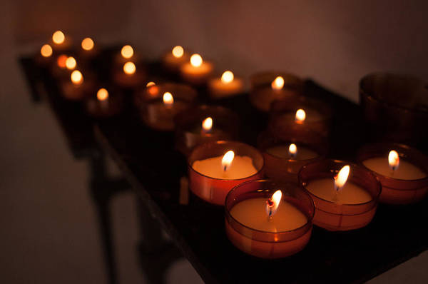 Photograph - Candles Of Hope by Miguel Winterpacht