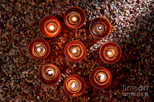 Photograph - Candles Spiritual Circle by Olivier Le Queinec