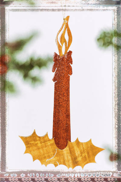 Photograph - Candlestick Holiday Image Art by Jo Ann Tomaselli