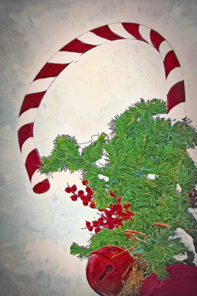 Christmas Season Wall Art - Photograph - Candy Cane Decor by Steve Ohlsen