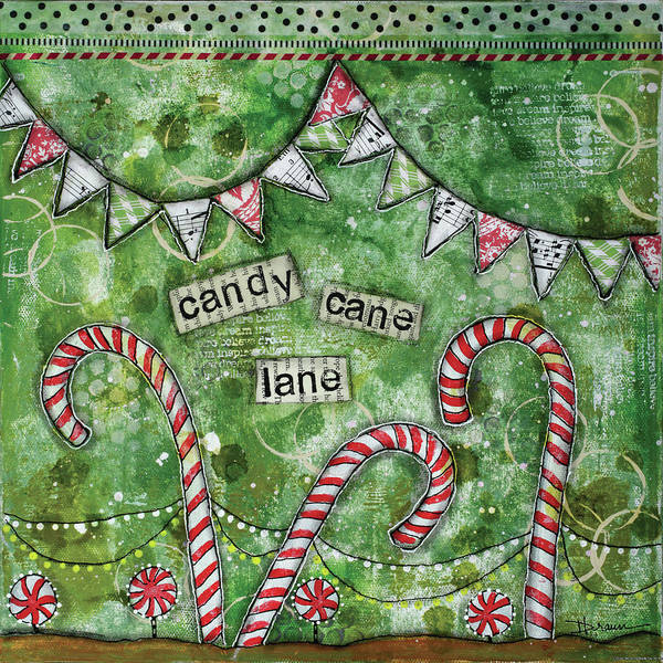 Candy Painting - Candy Cane Lane by Denise Braun