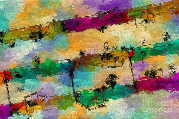 Digital Art - Candy-coated Chords 1 by Lon Chaffin