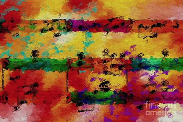 Digital Art - Candy-coated Chords 2 by Lon Chaffin