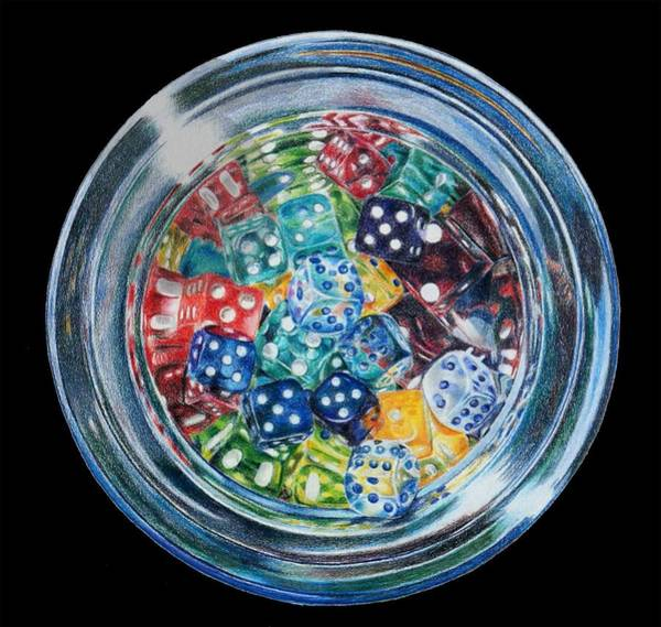 Primary Colors Drawing - Candy Dish by Mary Jo Jung
