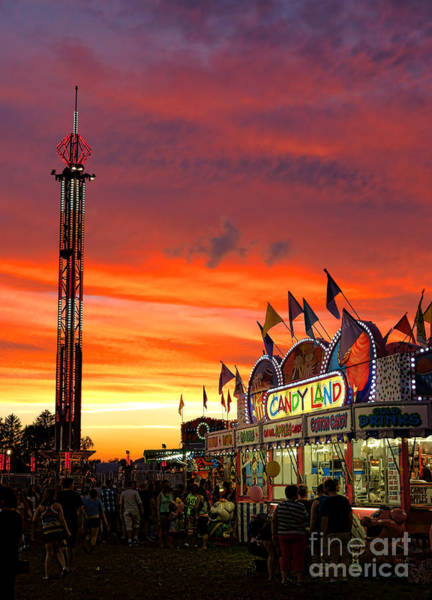 Fairground Photograph - Candy Land by Olivier Le Queinec