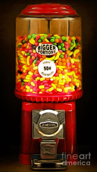 Photograph - Candy Machine 40d8940 20150222 by Wingsdomain Art and Photography