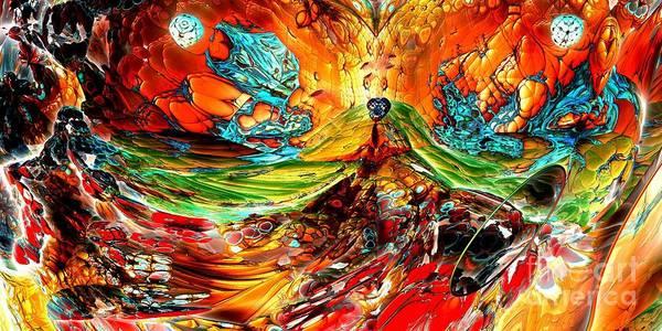 Digital Art - Candy Mountain 2 by Bernard MICHEL