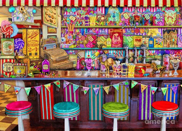 Carousel Digital Art - Candy Shop by MGL Meiklejohn Graphics Licensing