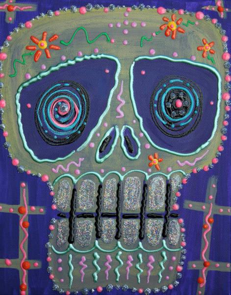 Wall Art - Painting - Candy Sugar Skull by Laura Barbosa