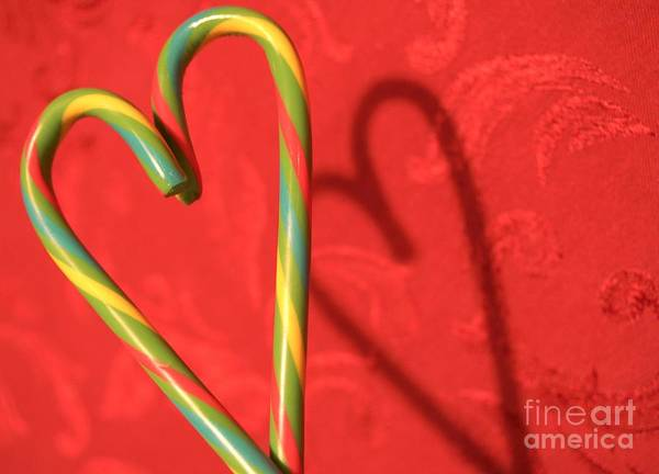 Photograph - Candycane Heart by Kerri Mortenson
