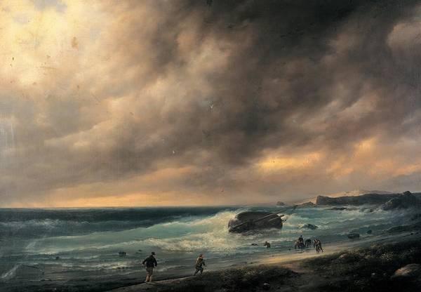 Scheveningen Photograph - Canella Giuseppe, Storm On The Beach by Everett