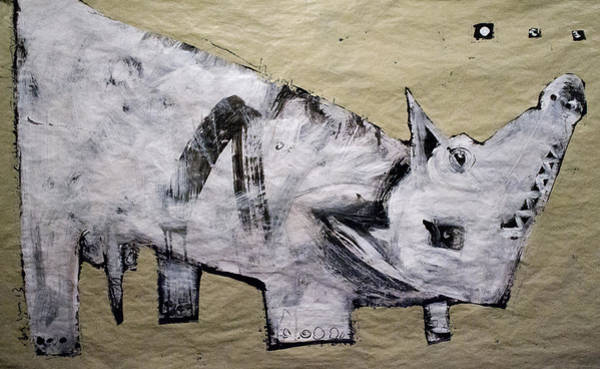 Outsider Wall Art - Painting - Canis Et Sidera by Mark M  Mellon