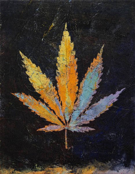 Trippy Wall Art - Painting - Cannabis by Michael Creese