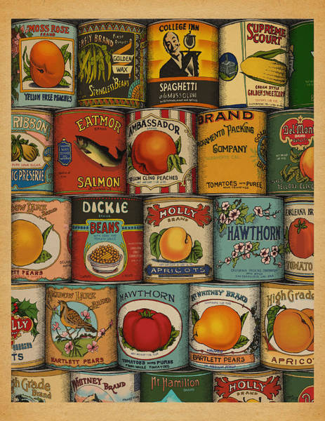 Retro Drawing - Canned by Meg Shearer
