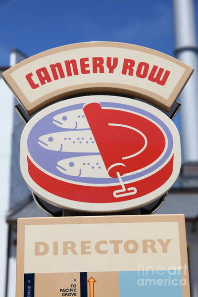 Monterey Bay Photograph - Cannery Row Directory At The Monterey Bay Aquarium California 5d25020 by Wingsdomain Art and Photography