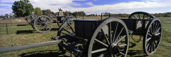Gettysburg Battlefield Photograph - Cannon At Gettysburg National Military by Panoramic Images