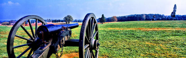 Battle Field Photograph - Cannon At Manassas National Battlefield by Panoramic Images