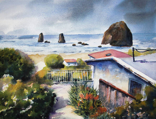 Cannon Beach Painting - Cannon Beach Cottage by Marti Green