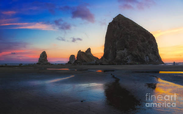 Photograph - Cannon Beach Seastacks by Carrie Cole