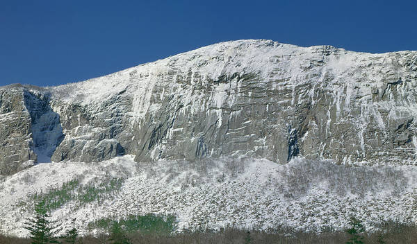 Photograph - 135725-cannon Mountain Cliff  by Ed  Cooper Photography