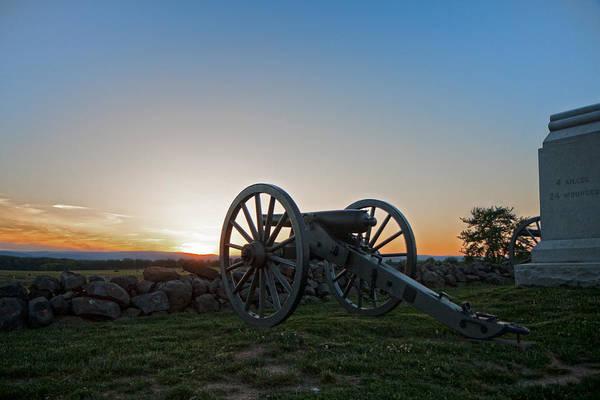 Cemetery Ridge Photograph - Cannon On Cemetery Ridge Gettysburg by William Ames