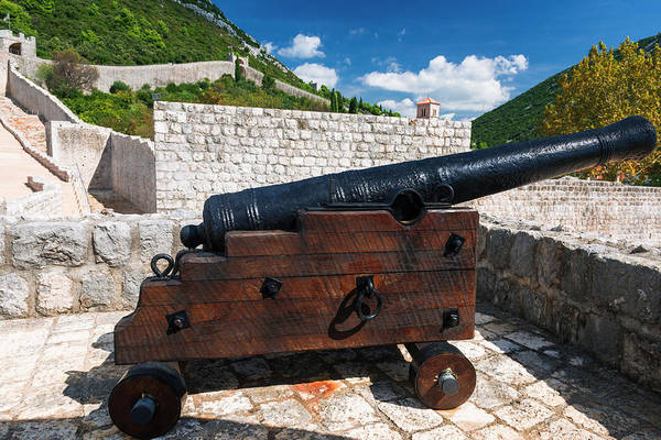 Wall Art - Photograph - Cannon On The Great Wall, Ston by Russ Bishop