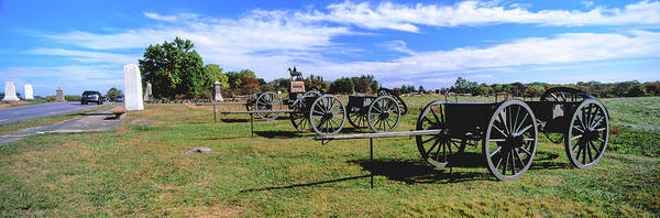 Gettysburg Battlefield Photograph - Cannons At Gettysburg National Military by Panoramic Images
