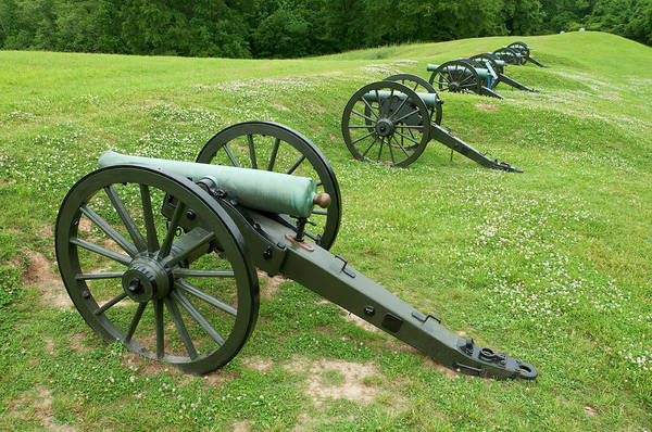 Siege Photograph - Cannons At Vicksburg National Military by Stephen Saks