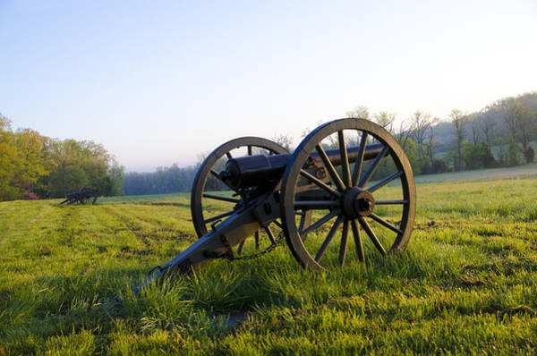 Battle Field Photograph - Cannons In A Field At Gettysburg by Bill Cannon