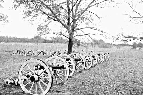 Photograph - Cannons In A Row by Alice Gipson