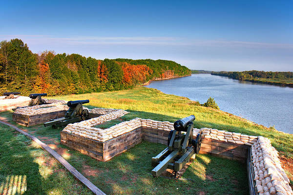 Photograph - Cannons Overlooking The River by Mary Almond
