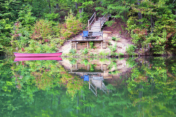 Canoe Photograph - Canoe And Boat Dock by Lauradyoung