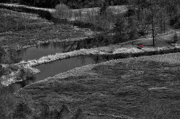 Photograph - Canoe By Creek II by Steven Ralser