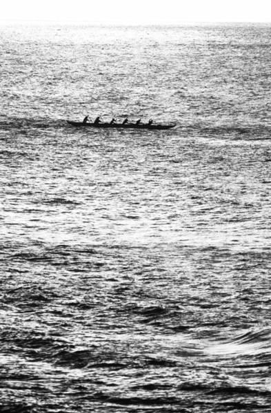 Outrigger Canoe Photograph - Canoe Glitter by Sean Davey
