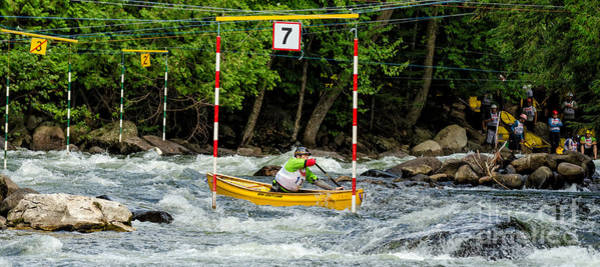 Photograph - Canoe Paddler In Gate 7 by Les Palenik