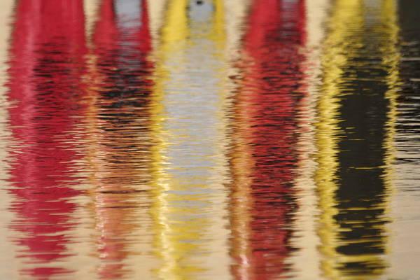Canoe Reflections Art Print by Carolyn Reinhart